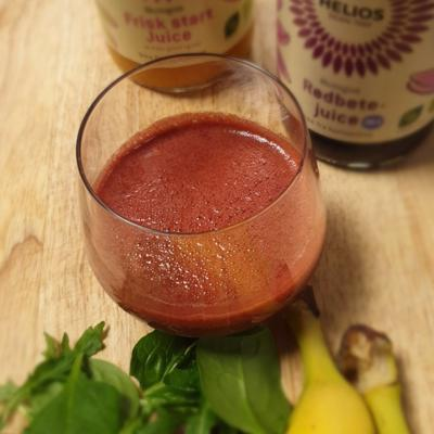 Matpodden - Kjapp smoothie med rødbetejuice og banan
