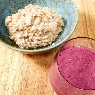 Matpodden - Sunn rask frokost med havregrøt og smoothie